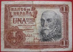 1 Peseta 1953 (WPM 144a) - [ 3] 1936-1975 : Régence De Franco