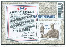 France 2010 - De Gaulle, Appel Du 18 Juin 1940 / De Gaulle´s Appeal To Resistance, London 18 June 1940 - MNH - De Gaulle (Generale)