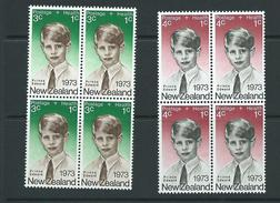 New Zealand Mnh Sg1031  Blks 4 Health Royalty - Blocks & Sheetlets