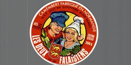ETIQUETTE FROMAGE  LES DEUX FALAISIENS - Cheese
