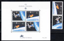 PORTUGAL-MADEIRA 1991.EUROPA-CEPT  AFINSA Nº 2000/2001 +BLOCO Nº 122 NOVO SEM CHARNEIRA.SES520GRANDE - 1910-... République
