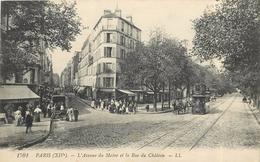 PARIS -  L'avenue Du Maine Et La Rue Du Château. - Arrondissement: 12