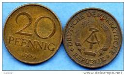ALLEMAGNE EST / DDR / RDA  20 Pfennig  1969   KM#11 - [ 6] 1949-1990 : GDR - German Dem. Rep.