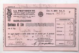 Polizza Assicurazioni La Previdente Di Milano - Agenzia Di Trento Datata 11.02.1930 - (FDC4125) - Italia