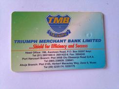 Nigeria Phonecard 80 Units 3NAIF Triumph Merchant Bank