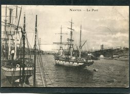 CPA - NANTES - Le Port - Voiliers  (dos Non Divisé) - Nantes