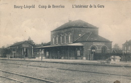 LEOPOLDSBURG - L'INTERIEUR DE LA GARE - Leopoldsburg (Beverloo Camp)
