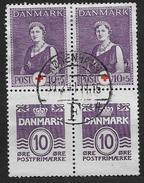 Danemark 1940 Bloc N°1 Oblitéré Surtaxe Pour Croix Rouge