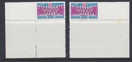 "Europa Cept 1972 Croatia ""Exile"" 2x1v  (corners) Perforated  ** Mnh (35345G) - 1972"