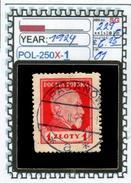 POLAND:COMMEMORATIVE-SINGLE ((POL-250X-1 (01) - 1919-1939 Republik