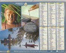 Calendrier Du Facteur 2016 - Fleur De Lotus - Temple Kinkaku De Kyoto - Bouddha - Temple D'Ulun Danu - Calendars