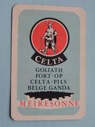 CELTA Goliath Port-Op Celta - Pils Belge Ganda MEIRESONNE / JOKER ( Details - Zie Foto´s Voor En Achter ) !! - Barajas De Naipe