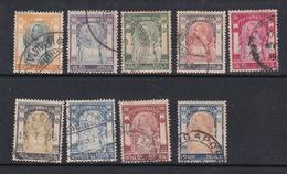 Thailand 94-102 1905  Rama V-Wat Jang Set Used - Thailand