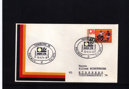 Deutschland / Germany 1974 World Football Champioship Germany  Interesting Letter With Press Center Postmarkl - Coppa Del Mondo