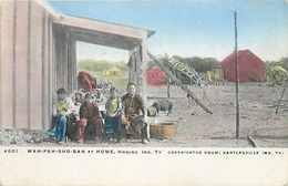 272863-Native American Indians, Wah-Pah-Sho-Sah At Home, Homing Indian Territory, Drum By Illustrated Post Card No 4651 - Native Americans