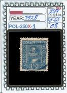 POLAND:COMMEMORATIVE-SINGLE (POL-250X-1 (08) - 1919-1939 Republik