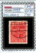 POLAND:COMMEMORATIVE-SINGLE (POL-250X-1 (10) - 1919-1939 Republik