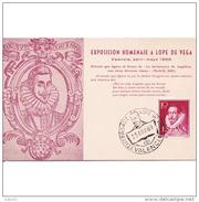 VLCATPA3189CPA-LFTMD9456TESC.Tarjeta Postal DE VALENCIA.Exposicion.ESCRITOR,filatélica Homenaje A LOPE DE VEGA.VALENCIA - Escritores