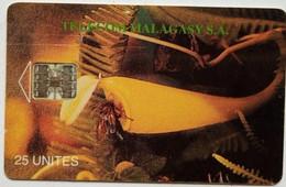 Madagascar Phonecard 25 Units Shell - Madagascar