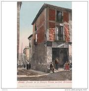 TLDTPA2792CPA-LFTMD1771TCES.Tarjeta Postal DE TOLEDO.Edificios.casas,HOTEL-POSADA Donde Escribio  CERVANTES En  TOLEDO - Escritores