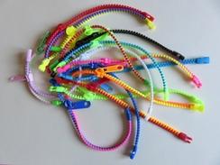 053 - Bracelets - Zip Clip - Fermeture éclair - Coloris Fun - Bijoux & Horlogerie