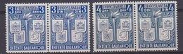 Yugoslavia 1940 Petite Entente 2x2v  (pair) ** Mnh (35346) - Idee Europee