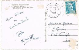 DAGUIN MUET DU VALDAHON SUR CPSM POINTS DE COLLE - Storia Postale