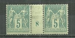 FRANCE MH * 75 Type Sage Millésime 8 - Millésimes