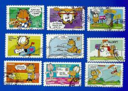"""Félins - Chats - (Série 4) """"Sourires"""" Avec Le CHAT """"Garfield"""" Du Dessinateur Américain Jim Davis - Domestic Cats"""