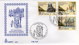 Vaticano 1996 FDC Capitolium 50° Ordinazione Sacerdotale Papa Giovanni Paolo II Papst Pope John Paul II - Popes