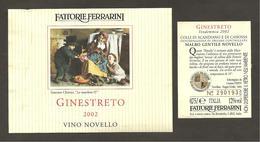 ITALIA - Etichetta Vino COLLI DI SCANDIANO E CANOSSA MALBO NOVELLO Doc 2002 Cantina FERRARINI Di Novellara Rosso EMILIA - Red Wines