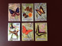 Malaysia 1970 Set To $2 Butterflies MNH - Papillons