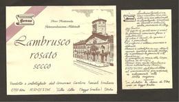 ITALIA - Etichetta Vino LAMBRUSCO EMILIA Cantine EMILIANE Di Villa Cella Rosato Dell'EMILIA - Chiesa Di S.Prospero (RE) - Vino Rosato
