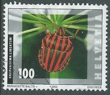 2002 SVIZZERA USATO INSETTI 100 CENT - CZ12-6 - Usati