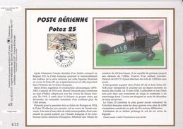FRANCE 1998- FEUILLET CEF N°1386 - POSTE AERIENNE POTEZ 25 - OBLITERATION 1er JOUR 13.07.1998 EVREUX - Airplanes