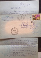 South Vietnam Viet Nam Military Cover 1973 From Nha Trang KBC 4721 With Letter - Vietnam
