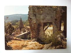 CRESTET - Ruines Du Château Et Le Clocher De L'Eglise Du Village - Sonstige Gemeinden