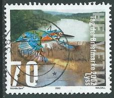 2002 SVIZZERA USATO GIORNATA DEL FRANCOBOLLO FIUME JURA - CZ11-4 - Usati