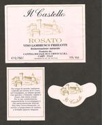 ITALIA - Etichetta Vino LAMBRUSCO DELL'EMILIA Cantina S. CROCE Di Carpi Rosato Dell' EMILIA-ROMAGNA - Castello Carpi - Vino Rosato