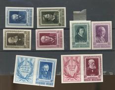 Série Et Dyptiques Littérateurs De Belgique 1952  Cote 525 Euros  Avec Charnière Et Une Val. Petit Pli - Belgique