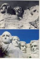 MOUNT RUSHMORE - Shown During Construction In The 1930's And Now - Mount Rushmore