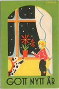 Mini AK - ARTIST SIGNED: SUNDBLAD -  Small Card - Miniature - NEW YEAR - Gott Nytt År - Sweden - Anno Nuovo
