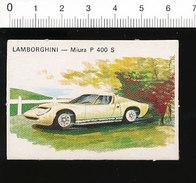 Lamborghini Miura P 400 S - Automobile Voiture De Sport Course Race Car  IM51P4-1 - Vieux Papiers