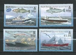 South Georgia & South Sandwich Islands 2008 Fishing Industry.Ships.MNH - South Georgia