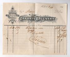 """Trento - 5 Dicembre 1892 - Fattura Della Ditta """" Zanoni E Brugnara"""" - (FDC4128) - Italia"""