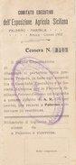 PALERMO_1902 / Esposizione Agricola Siciliana - Tessera Per Riduzione 70% Sul Biglietto Ferroviario PA- Corleone _ RARA - Spoorwegen