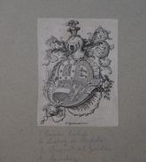 Ex-libris Héraldique Belge  XVIIIème - De Castro-Toledo (Gand) - Ex Libris