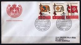 Ordre De Malte 1967 : Enveloppes FDC Avec Timbres Yvert & Tellier N° 10 à 18 - Malte (Ordre De)