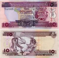 SOLOMON IS.         10 Dollars       P-27       ND (2008)       UNC  [ Sign. 9 ] - Salomons