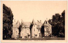 72 MARIGNE - Chateau Du Ronceray   (Recto/Verso) - Francia